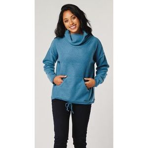 NWOT Carve Designs Blue Rowayton Cowl Neck